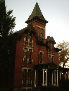 Kent Masonic Temple, Ohio -There are two ghosts which haunt the building, the first is that of Kitty Kent, the wife of Marvin Kent. She died by being burned alive by the kerosene cooker on the third floor, activity from this spirit includes banging noises coming from the room when it is empty, and scratch marks appearing on the walls and floor of the room, as well as on an old french mirror that has since been moved from the room.