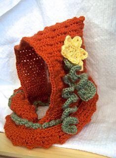 Pumpkin Hooded Wrap ~ free pattern ᛡ