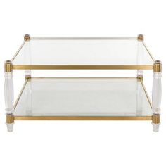 Check out this item at One Kings Lane! Anastasia Coffee Table, Gold