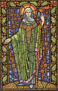 Irish Saint Brigid was originally a Celtic Goddess, who was adapted by the Christian missionary monks in order to win over the pagan locals. Brigid was orginally goddess of the hearth and home, poetry, smithing, creativity and ushering in spring. Catholic Saints, Patron Saints, Catholic Churches, Jesus In The Temple, St Bridget, Celtic Goddess, Spiritus, Irish Celtic, Groundhog Day