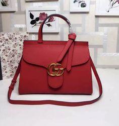 b14a0cc3480 Gucci marmont woman hand bag GG buckle