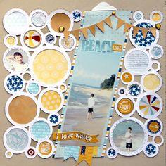 #papercraft #scrapbook #Layout: Beach Love