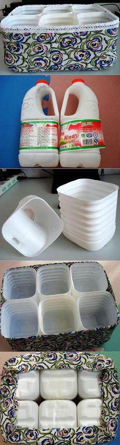 Ящик-органайзер из пластиковых бутылок…   Панель идей