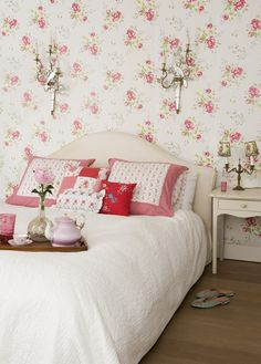 Floral Print Bedroom.
