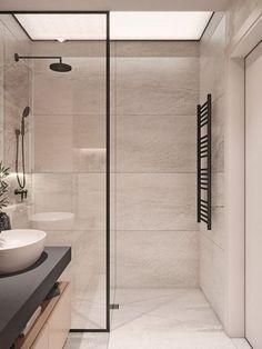 Amazing Small Bathrooms In Small Appartment Ideas – Idees de Salle de Bain Modern Master Bathroom, Modern Bathroom Design, Bathroom Interior Design, Restroom Design, Bathroom Designs, Bathroom Styling, Bathroom Lighting, Small Appartment, Bathroom Inspiration
