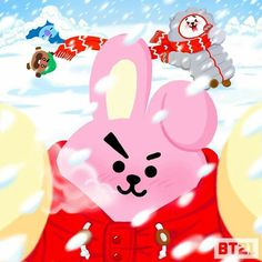 Toughie selfie  by COOKY And some of his friends. Bts Chibi, Bts Jungkook, Taehyung, Special Characters, Disney Characters, Les Bts, Line Friends, Bts Fans, Main Theme
