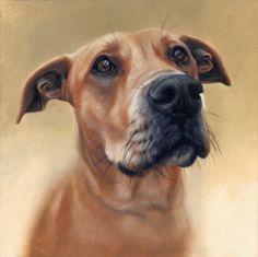 Oil Portrait of dog