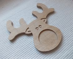 Wooden blank reindeer picture or phot frame. In the centre of the frame there is a 70 mm cutout.   29.90$  www.artwoodenstuff.com