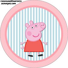 Peppa Pig: Free Printable Labels and Toppers. - Oh My Fiesta! in english Invitacion Peppa Pig, Cumple Peppa Pig, Peppa E George, George Pig, Scooby Doo Birthday Cake, Pig Birthday, Birthday Ideas, Peppa Pig Stickers, Pig Cupcakes