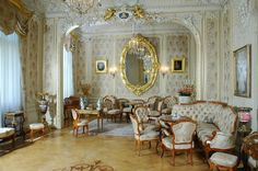 Yusupov Palace at the Moika River embankment built in classical style in the end of the 18th century and belonged to the princes Yusupov family (one of the most notable and rich families in Russia) since 1830 is not only majestic architectural monument but also unique interiors: collection of furniture of different styles, Moorish dinning room, Turkish study, private theatre copying in miniature the Grand Opera in Paris.