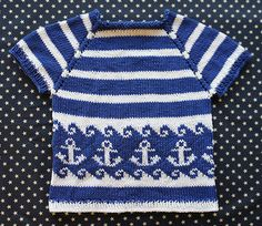 Anchors Away Pullover by Tanis Gray