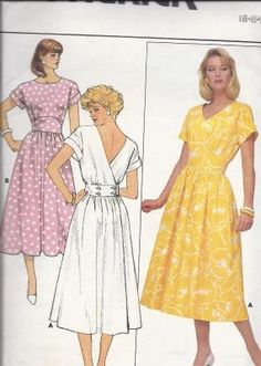 ea2ed09b0b Ladies Back Wrap Dress with Flared Skirt Butterick 3807. Dawn Oesterreicher  · vintage sewing patterns