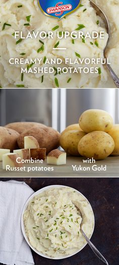 Mix up your mashed potatoes by blending Russets with your Yukon Gold potatoes. Russets give you a creamier, fluffier mild flavored batch, while Yukon gold adds more delicious potato flavor. When mixed together, you get the best of both worlds – a nice potato flavor with a light, delicate texture.