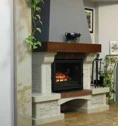 Fireplace mantel from buildwish.