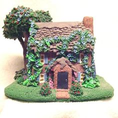 polymer clay miniatures | Miniature Manor house OOAK Polymer Clay sculpture | CreativeCritters ...