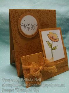 Stampin' Up! Tent Fold Variation card- Birthday Blooms
