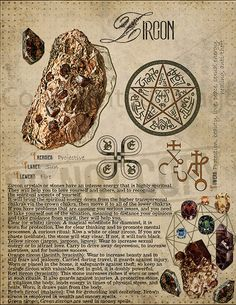 Zircon, Book of Shadows printable page. Wiccan Spells, Witchcraft, Crystals And Gemstones, Stones And Crystals, Crystal Magic, Hogwarts, Crystal Meanings, Tarot Spreads, Book Of Shadows