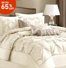 Stock up on affordable bedding and furniture that are perfect for spring. Floral and nautical comforter sets lend a pop of color to neutral spaces, while white and beige bedspreads blend well with all decor. Wrap up your bedroom refresh with a plush, pillow-top bench and playful, patterned cushions in a rainbow of colors.