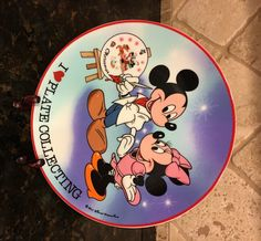 MINT Walt Disney MICKEY and MINNIE I (heart) Plate Collecting Schmid Plate ~ Limited Edition by KatsVintageTreasures on Etsy
