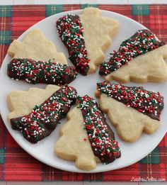Chocolate Dipped Shortbread Cutouts