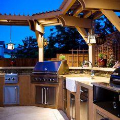 """Outdoor """"kitchen""""."""