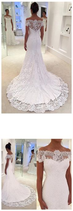 Vintage Wedding Dresses Bohoprom exquisite appliqued white garden wedding dress, made of lace and decorated with pleats, mermaid wedding dress, Garden Wedding Dresses, Elegant Wedding Dress, Wedding Bridesmaid Dresses, Perfect Wedding Dress, Trendy Wedding, Bridal Dresses, Wedding Gowns, Wedding Skirt, Wedding Outfits