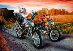 Bugs Bunny, Yosemite Sam, Warner Bros. Easy Rider