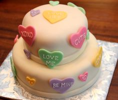 Cute Valentine's Day cake