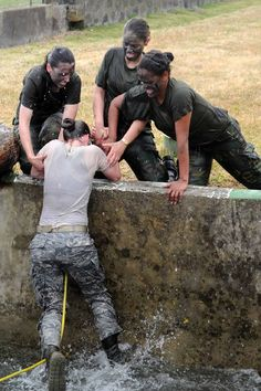 New recruits go through a lot of change and adjustment at Air Force basic training. Common questions asked about Air force bmt difficulty are. Air Force Basic Training, Army Basic Training, Air Force Women, Future Jobs, Military Women, Military Female, Female Soldier, Female Marines, Military Girl
