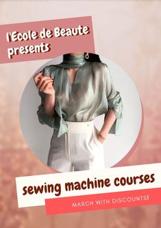 If you are a creative person and you do not leave the desire to constantly create, you can master the art of sewing. Have the knowledge and skills to work with a sewing machine, you will save time and effort. Sewing Courses, Sewing Class, School Fashion, Effort, Knowledge, Therapy, Train, London, Create