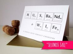 SECONDS SALE: Perfect Chemistry Husband and Wife by VanillaRetro