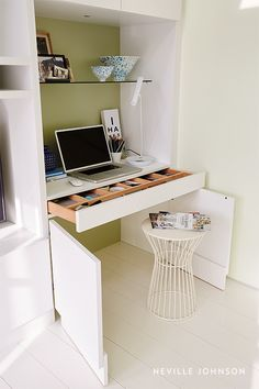 Trendy bedroom desk decor study areas built ins 18 ideas Alcove Desk, Desk Nook, Office Nook, Home Office Space, Home Office Design, Small Office, Table Desk, Small Study Area, Study Corner