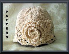 Knitted Hat Pattern Baby Hat Pattern Newborn Hat por CottonPickings