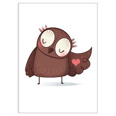 Owl wears his heart on his sleeve - Lisa Hunt
