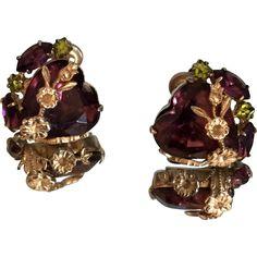 Swarovski Austrian Crystal Earrings circa. 1940