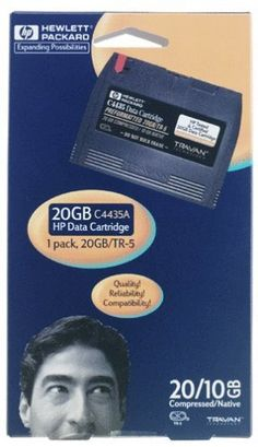 Hewlett Packard C4435A 1-pack Travan 20 TR-5/NS20 10/20GB by HP. $7.00. Travan data cartridge offers a reliable data protection. Store up to 20GB of compressed data on a single cartridge. More capacity than a floppy, more durable than a CD. Ideal solution for desktop, laptop and small network backup and storage. Exceeds industry standards for testing and qualification which equates to reliable data protection. Withstands 10,000 end-to-end tape passes and offers an archiva...