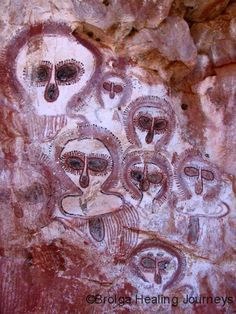 Aboriginal cave paintings  Kimberely, Australia