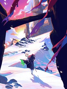 Amazing Drawings, Cool Drawings, Character Art, Character Design, Sky Games, Relaxing Art, Child Of Light, Sky Art, Environment Concept Art