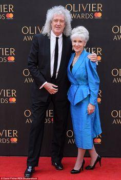 Brian May and wife Anita Dobson