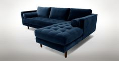 Sven Cascadia Blue Right Sectional Sofa - Sectionals - Bryght | Modern, Mid-Century and Scandinavian Furniture