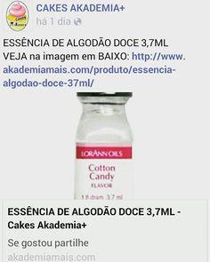 ESSÊNCIA DE ALGODÃO DOCE 3,7ML VEJA na imagem em BAIXO: http://www.akademiamais.com/produto/essencia-algodao-doce-37ml/