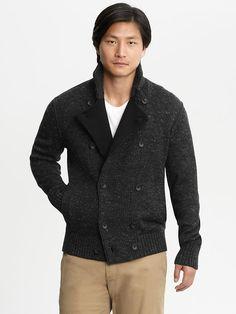 Banana Republic | Heritage double-breasted sweater jacket