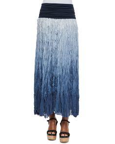 Dip Dye Broomstick Skirt