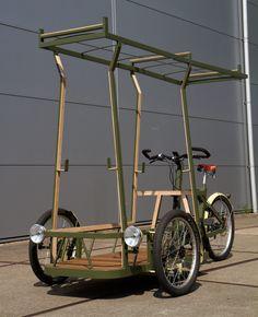 Bicycle Sidecar, Tricycle Bike, Cool Bicycles, Cool Bikes, Bike Cargo Trailer, Bike Cart, Velo Cargo, Diy Go Kart, Pedal Cars