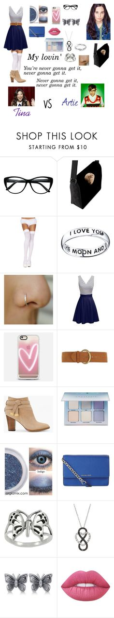 """Andrea Anderson-My Lovin'-Glee OC"" by silverbellatrix ❤ liked on Polyvore featuring ToBeInStyle, Footnotes, Casetify, Dorothy Perkins, White House Black Market, Anastasia Beverly Hills, MICHAEL Michael Kors, Journee Collection, Allurez and Lime Crime"
