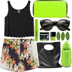 """""""Tropical."""" by kate-margo ❤ liked on Polyvore"""