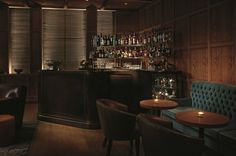 """Punch Room (London Edition Hotel, Fitzrovia, London, UK) : """"This intimate, oak-paneled fixture serves up delicious cocktails and excellent finger food. Restaurant Design, Restaurant Bar, Restaurant Lighting, Restaurant Interiors, Hotel Interiors, Design Hotel, Design Interiors, Cocktail Bars London, Edition Hotel"""