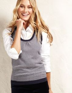 Falling for #pinstripes again; #navy and #cashmere #vest.