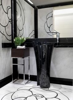 Modern Pedestal Sink, Stone Basin, Bathroom Crafts, Guest Toilet, Wash Stand, Sink Design, Black Marble, Entryway Tables, Stones