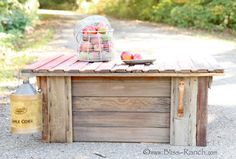 100 year old Barn Doors Turned Coffee Table:  Bliss-Ranch.com